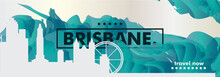 Australia Brisbane Skyline City Gradient Vector Poster