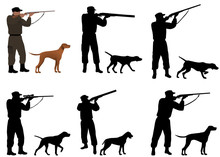 Collection Of Silhouettes Of H...