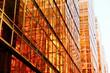 Leinwanddruck Bild - Modern glass skyscrapers perspective in the city
