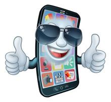A Mobile Phone Cartoon Charact...