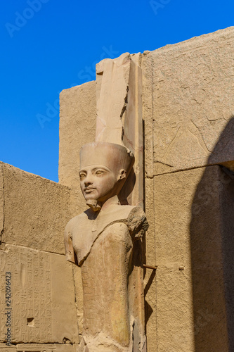 Tuinposter Historisch mon. Statue in Karnak temple. Luxor, Egypt