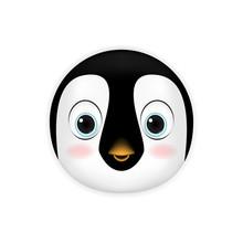 Penguin Head Cartoon Vector