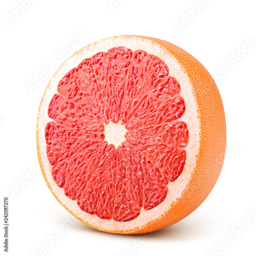 Legume grapefruit isolated on white background, clipping path, full depth of field
