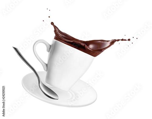 Foto auf Leinwand Schokolade hot chocolate or cocoa in cup
