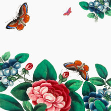 Chinese Painting Featuring Flo...