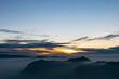 Sunrise from Adams peak or Sri Pada mountain, Sri lanka