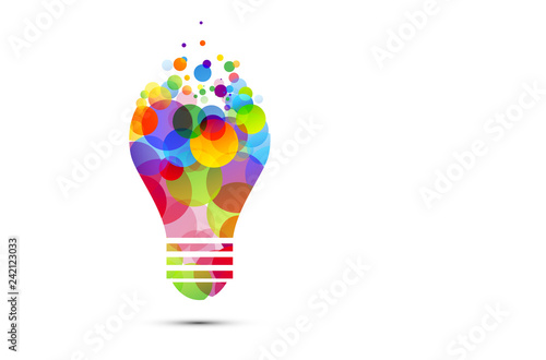 Obraz lampadina, idea, colori, creatività, idee - fototapety do salonu