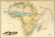 canvas print picture - Karte Landkarte Afrika um 1860 historisch