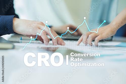 Fotografia Conversion rate optimization, CRO concept and lead generation.