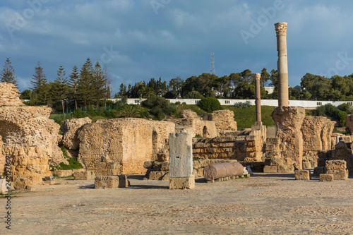 Keuken foto achterwand Rudnes Ruins of the ancient Carthage city, Tunis, Tunisia, North Africa.
