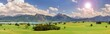 Weitwinkel Landschaft am Forggensee im Allgäu