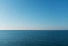 Beautiful Horizon Of The Black Sea At Sunset.