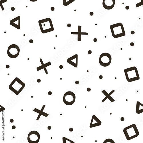 grafika-wektorowa-bezszwowe-tlo-skladajace-sie-z-symboli-gry-biale-tlo-z-jasnymi-elementami
