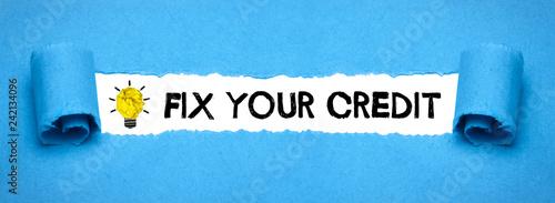Fix your credit Fotobehang