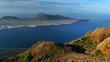 View of La Graciosa Island and Alegranza Island from Mirador del Río, Lanzarote. Canary Islands. Spain