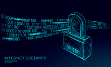 Cyber Safety Padlock On Data M...