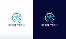 Pixel Technology Logo Designs ...