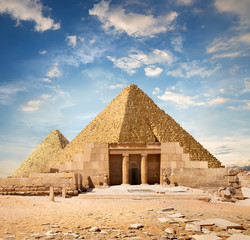 Ruins near the pyramids