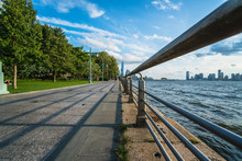 View Looking South At Hudson River Park In New York City