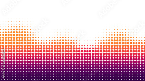 Photo Halftone dots background, wave shape, overlay pattern, vector illustration