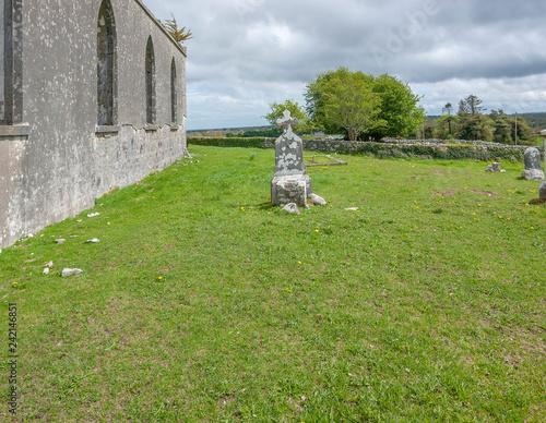 Fényképezés  rundown church in Connemara