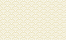 Gold Seamless Pattern Japanese Style, Gold Background