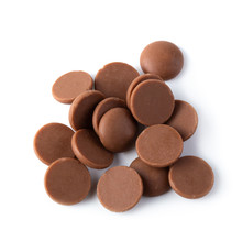 Sweet Chocolate Button Isolated On White Background