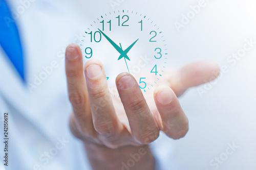 mano, dito, tempo, orologio, orologi Canvas Print