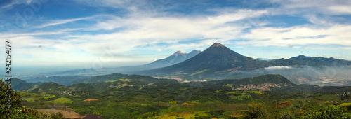 Obraz na plátně Panoramic view from Pacaya volcano