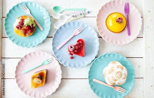 Door stickers Dessert Leckere kleine Kuchen