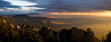 Stunning Vista Of Albuquerque At Sunset, From The Sandia Peak