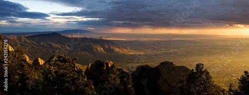 Stunning Vista of Albuquerque at Sunset, from the Sandia Peak Canvas Print