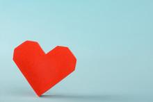 Big Red 3D Paper Heart