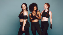 Diverse Group Women In Sportswear After Workout