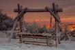 Tatry o wschodzie słońca widoczne z Jaworzyny Krynickiej ,Beskid Sądecki.