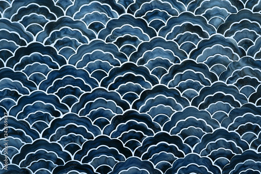 background of japanese style wave pattern teture