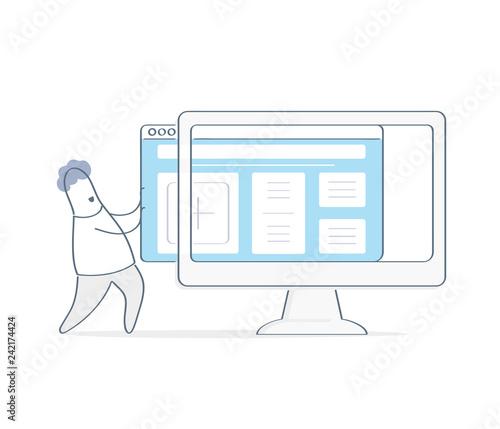 Fotografie, Obraz New website template launch, ux ui design updates, changing website design
