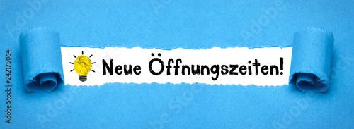 Fotografía Neue Öffnungszeiten!