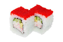 Two Sushi Roll With Crab Meat,...