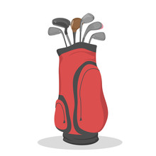 Red Golf Bag For Clubs