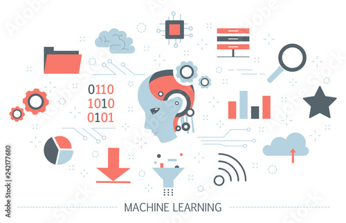 Fotografie, Obraz  Machine learning concept