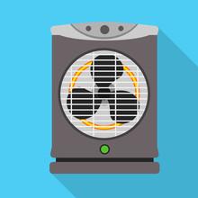 Modern Fan Heater Icon. Flat I...