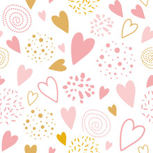 Vector Seamless Pink Pattern H...