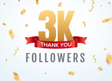 Thank You 3000 Followers Desig...