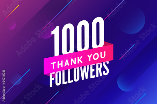 Fotografia, Obraz  1000 followers vector