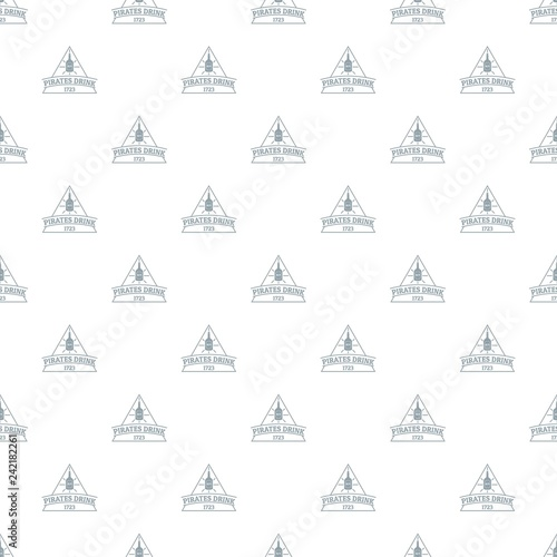 Photo  Pirate drink pattern vector seamless repeat for any web design