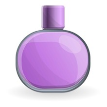 Purple Perfume Icon. Cartoon Of Purple Perfume Vector Icon For Web Design Isolated On White Background