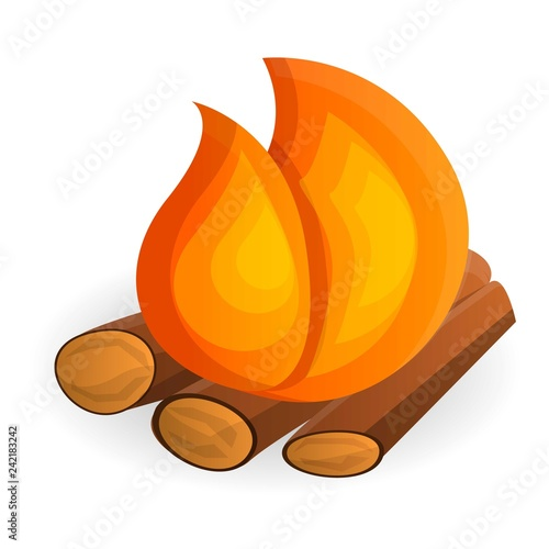 Fotografiet  Burning bonfire icon