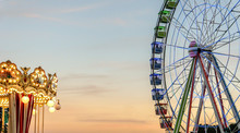 Ferris Wheel In A Fairground P...