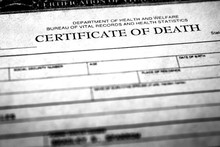 Death Certificate Symbolizing ...